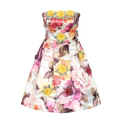PHILIPP PLEIN ミニワンピース&ドレス イエロー S レーヨン 100% ミニワンピース&ドレス