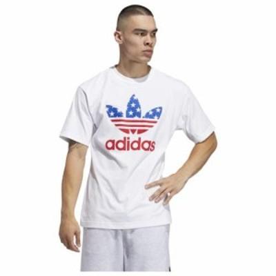 (取寄)アディダス オリジナルス メンズ アメリカ スタックド Tシャツ adidas originals Men's America Stacked T-Shirt White Scarlet Bl