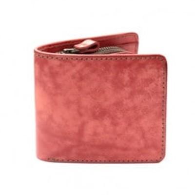 二つ折り財布(レッド) イタリアンレザー