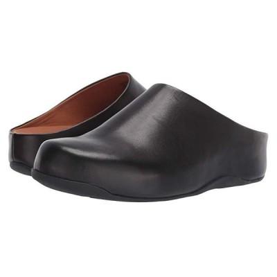 FitFlop Shuv レディース クロッグ ミュール Black Leather