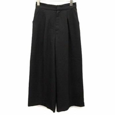 【中古】ジャスグリッティー JUSGLITTY 18SS パンツ ワイド 1 黒 ブラック /EK  レディース