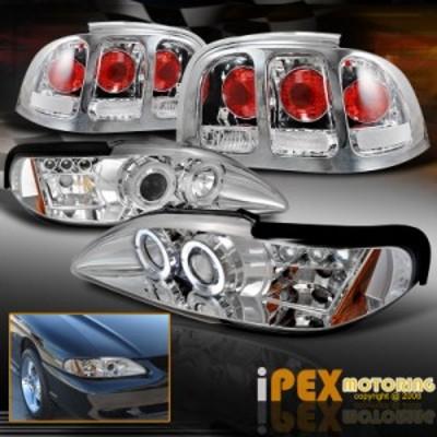 テールライト VALUE COMBO 1996-1998 Ford Mustang Halo LEDプロジェクターヘッドライトテ