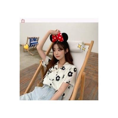 【送料無料】夏 韓国風 ルース プリント 半袖のワイシャツ 女 レトロ 味 | 346770_A62791-4518635
