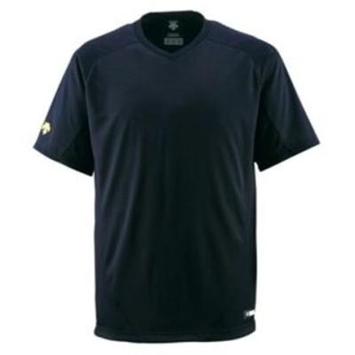 デサント(DESCENTE) ジュニアベースボールシャツ(Vネック) (野球) JDB202 ブラック 140【代引不可】【同梱不可】[▲][TP]