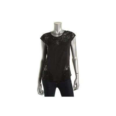 トップス ブラウス ロバートロドリゲス Robert Rodriguez 4670 レディース Gracelyn ブラック Lace Trim ドレス Top Blouse S