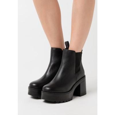 レディース ブーツ FILK - High heeled ankle boots - black