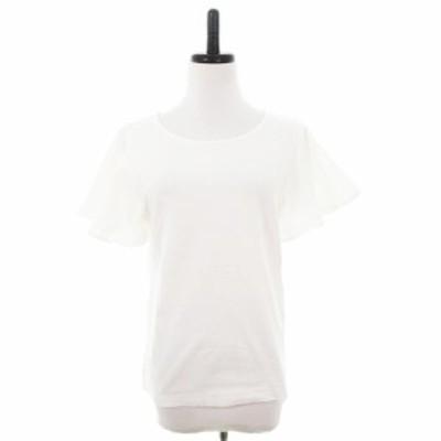 【中古】ロッソ ROSSO アーバンリサーチ Tシャツ カットソー 半袖 薄手 コットン 無地 F 白 トップス レディース
