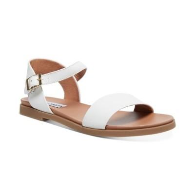 スティーブ マデン サンダル シューズ レディース Dina Flat Sandals White