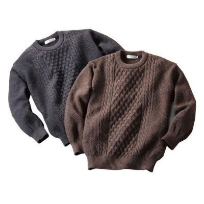 日本製ウール100%クルーセーター - ダンディクラブ