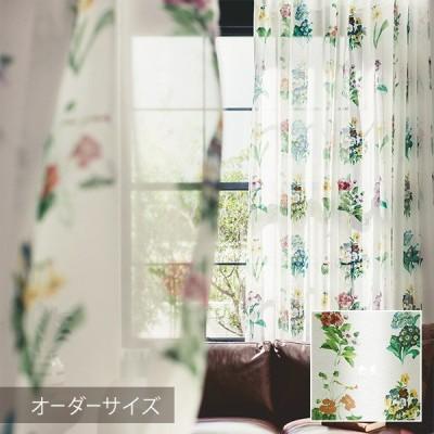 Disney シアーカーテン MICKEY ミッキー Antique flower / アンティークフラワー (メーカー直送品)