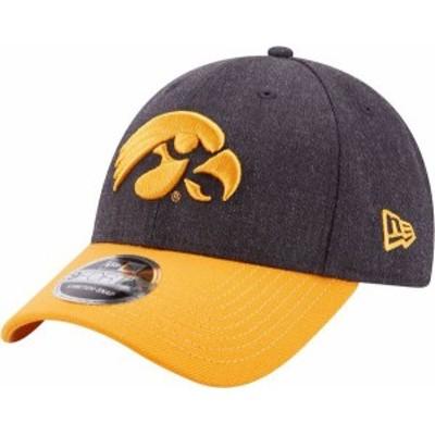 ニューエラ メンズ 帽子 アクセサリー New Era Men's Iowa HawkeyesLeague 9Forty Adjustable Black Hat