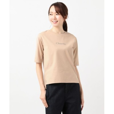 L size ONWARD(大きいサイズ)/エルサイズオンワード Chortle ロゴTシャツ ベージュ系 T15