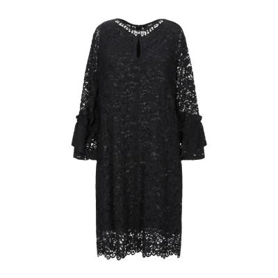 ブルーガール ブルマリン BLUGIRL BLUMARINE ミニワンピース&ドレス ブラック 38 レーヨン 46% / コットン 39% / ナ