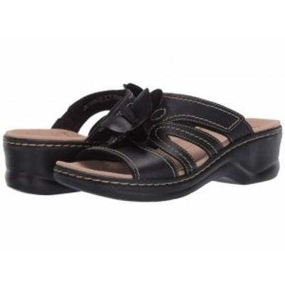 Clarks クラークス レディース 女性用 シューズ 靴 ヒール Lexi Opal Black Leather【送料無料】