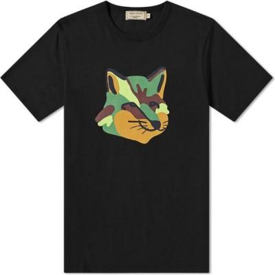 メゾン キツネ Maison Kitsune メンズ Tシャツ トップス neon fox print tee Black