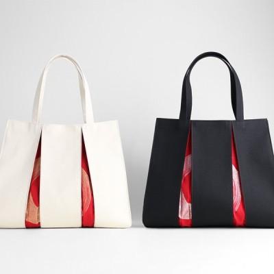 KOSHO ougi 帆布トートバッグ madoka L レディース メンズ おしゃれ キャンバス 布バッグ オリジナル 日本製 京都 肩掛け 軽量 裏地付き A4サイズ対応 大きめ