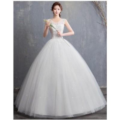 ロング丈ワンピース 綺麗 きれいめ 結婚式 花嫁 二次会 パーティードレス  プリンセスライン ウエディングドレス ブライダル 素敵 ワンピース 大きいサイズ 冠婚
