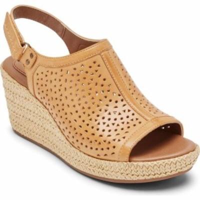 ロックポート ROCKPORT COBB HILL レディース サンダル・ミュール シューズ・靴 Erika Slingback Sandal Amber Yellow Leather
