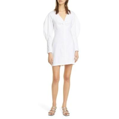 エーエルシー レディース ワンピース トップス Aila Long Sleeve Linen Blend Minidress GESSO
