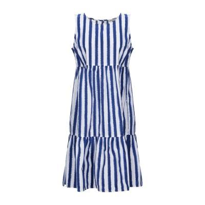 CAMICETTASNOB ミニワンピース&ドレス ブルー 40 コットン 100% ミニワンピース&ドレス