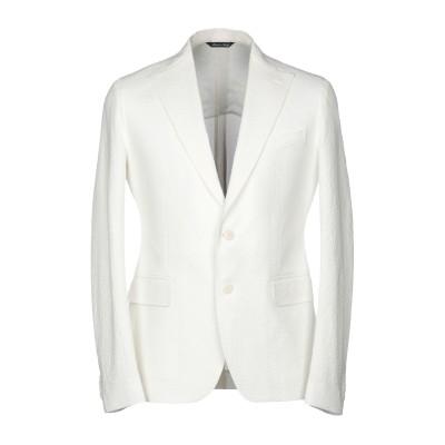 ブライアン デールズ BRIAN DALES テーラードジャケット ホワイト 50 97% コットン 3% ポリウレタン® テーラードジャケット