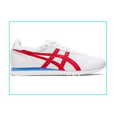 【新品】ASICS Men's Tiger Runner Shoes, 9M, White/Classic RED(並行輸入品)