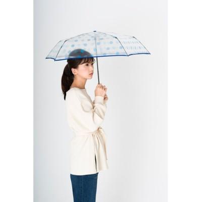 """MOONBAT / 透明ビニール折りたたみ傘 """"ドット"""" WOMEN ファッション雑貨 > 折りたたみ傘"""