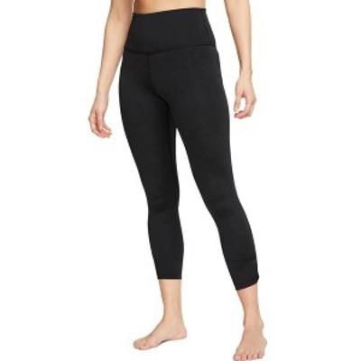 ナイキ レディース カジュアルパンツ ボトムス Nike Women's Yoga Ruched 7/8 Training Tights Black