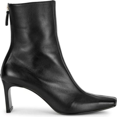 レイクネン Reike Nen レディース ブーツ ショートブーツ シューズ・靴 Trim 80 black leather ankle boots Black