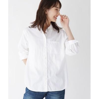 WORLD ONLINE STORE SELECT / 【ハンドウォッシュ】コットン(綿)ツイルシャツ WOMEN トップス > シャツ/ブラウス