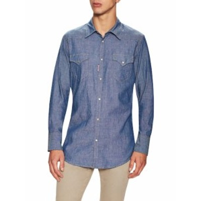 ディースクエアード Men Clothing Solid Denim Sportshirt