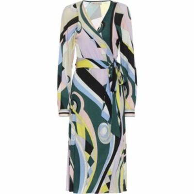 エミリオ プッチ Emilio Pucci レディース ワンピース ミドル丈 ワンピース・ドレス printed wool-blend midi dress Verde/Giallo