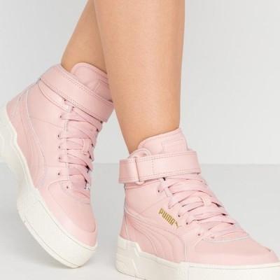 プーマ レディース 靴 シューズ CALI SPORT WARM UP - High-top trainers - peachskin/marshmallow