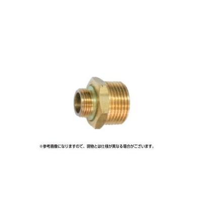 永田 異径ニップル金具 G3/8オス×G3/8オス(継手・配管部品・ジョイント真鍮製)