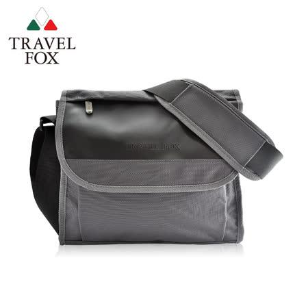 TRAVEL FOX 旅狐 簡約商務鑽紋公事包 側背包 TB599-13 灰色