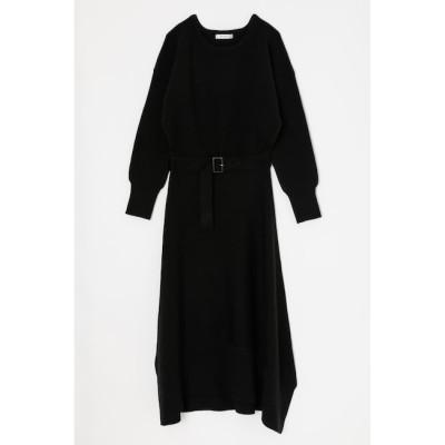 【マウジー/MOUSSY】 ASYMMETRY KNIT ドレス