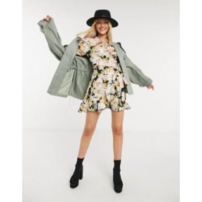 トップショップ レディース ワンピース トップス Topshop daisy print wrap midi dress in multi Multi