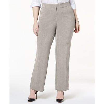 ジェイエムコレクション JM Collection レディース ボトムス・パンツ 大きいサイズ Plus & Petite Plus Size Curvy-Fit Straight-Leg Pants Stonewall
