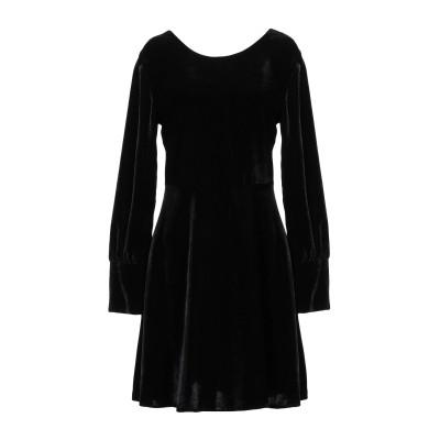 KAOS JEANS ミニワンピース&ドレス ブラック 48 ポリエステル 100% ミニワンピース&ドレス