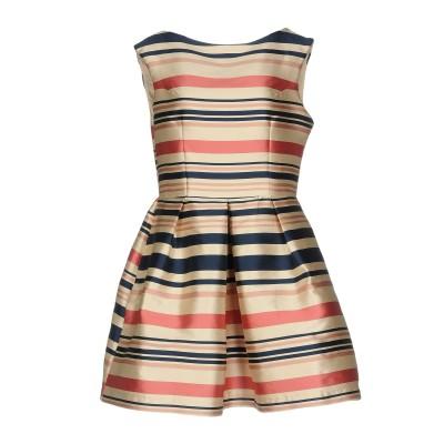 VERYSIMPLE ミニワンピース&ドレス ベージュ 42 ポリエステル 100% ミニワンピース&ドレス