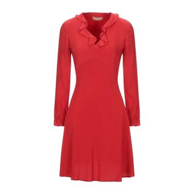 ツインセット シモーナ バルビエリ TWINSET ミニワンピース&ドレス レッド 40 レーヨン 95% / ポリウレタン 5% ミニワンピース&