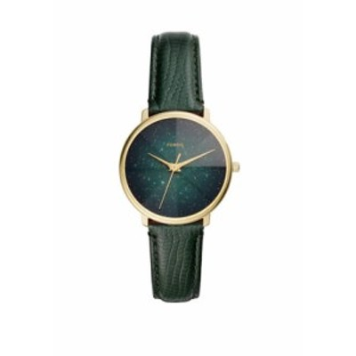 フォッシル レディース 腕時計 アクセサリー Women's Prismatic Galaxy 3 Hand Green Leather Watch Green