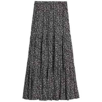 スカート Ecovero(TM) ティアード ミディスカート