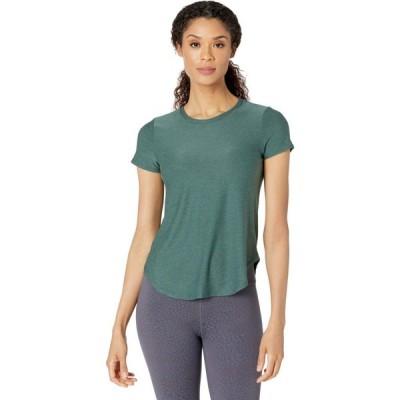 ビヨンドヨガ Beyond Yoga レディース Tシャツ トップス Lightweight Space Dye On The Down Low T-Shirt Green Ivy