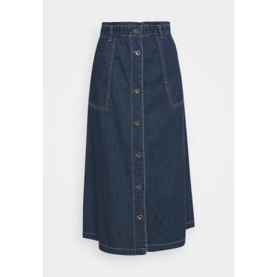 カルチャー レディース ファッション PAOLA SKIRT - A-line skirt - blue wash