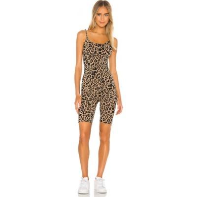 エルエヌエー LNA レディース オールインワン ワンピース・ドレス Short Onesie Leopard