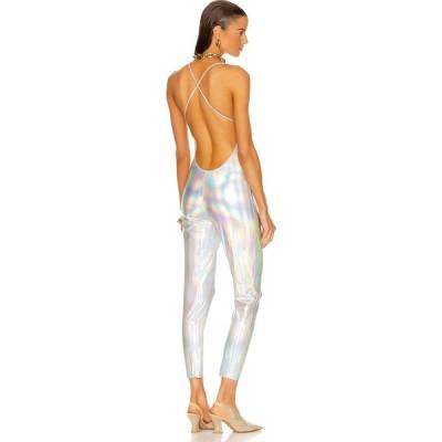 ノーマ カマリ Norma Kamali レディース オールインワン キャットスーツ ワンピース・ドレス Low Back Fara Slip Catsuit Hologram