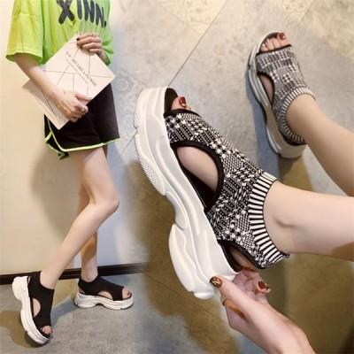 レディース サンダル カジュアルシューズ 夏 コンフォート ウォーキング  厚底シューズ 女子靴