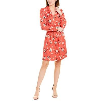 レベッカテイラー ワンピース トップス レディース Rebecca Taylor Daniella Silk-Blend A-Line Dress punch combo