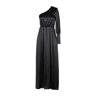 フェデリカ・トシ FEDERICA TOSI ロングワンピース&ドレス ブラック 40 シルク 94% / ポリウレタン 6% ロングワンピース&ド
